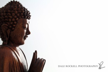 Wooden Buddha Statue in Teaching Pose